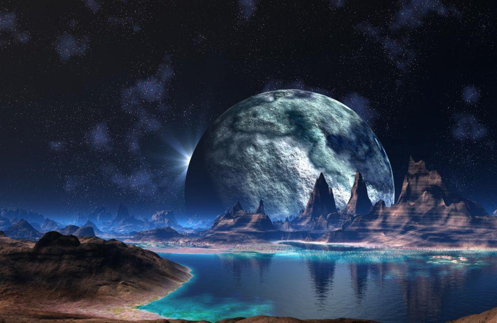 Papel De Parede 3D Universo 0004 - papel de parede paisagem  - Paredes Decoradas
