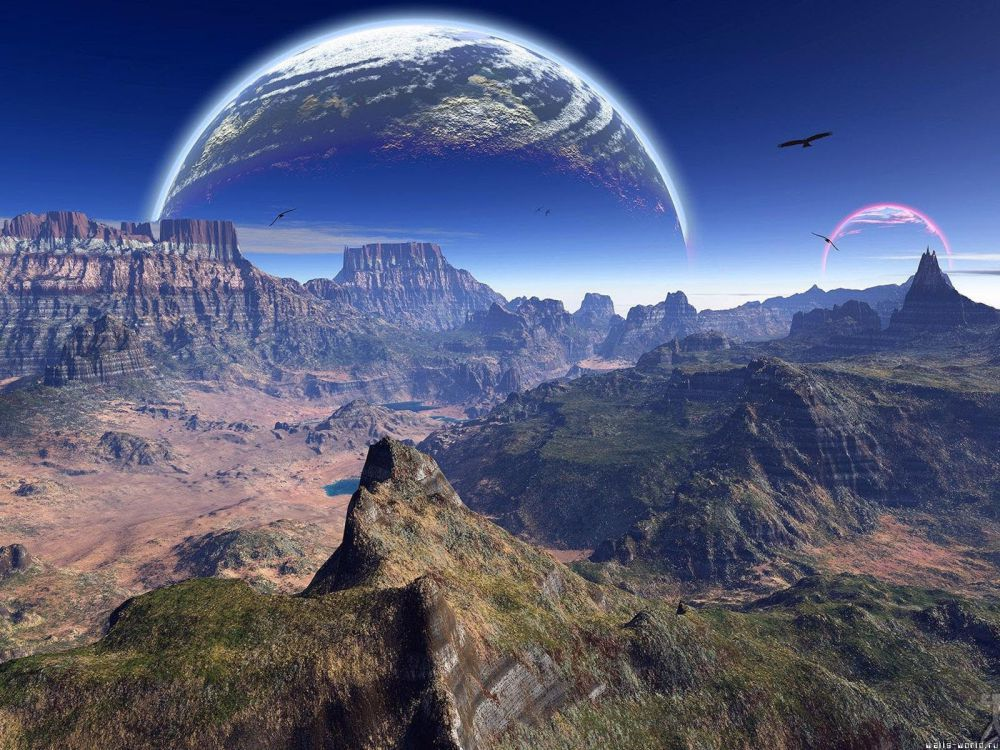 Papel De Parede 3D Universo 0006 - papel de parede paisagem  - Paredes Decoradas
