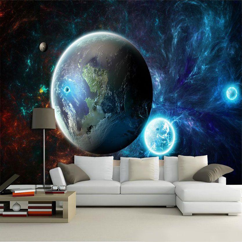 Papel De Parede 3D Universo 0009- papel de parede paisagem