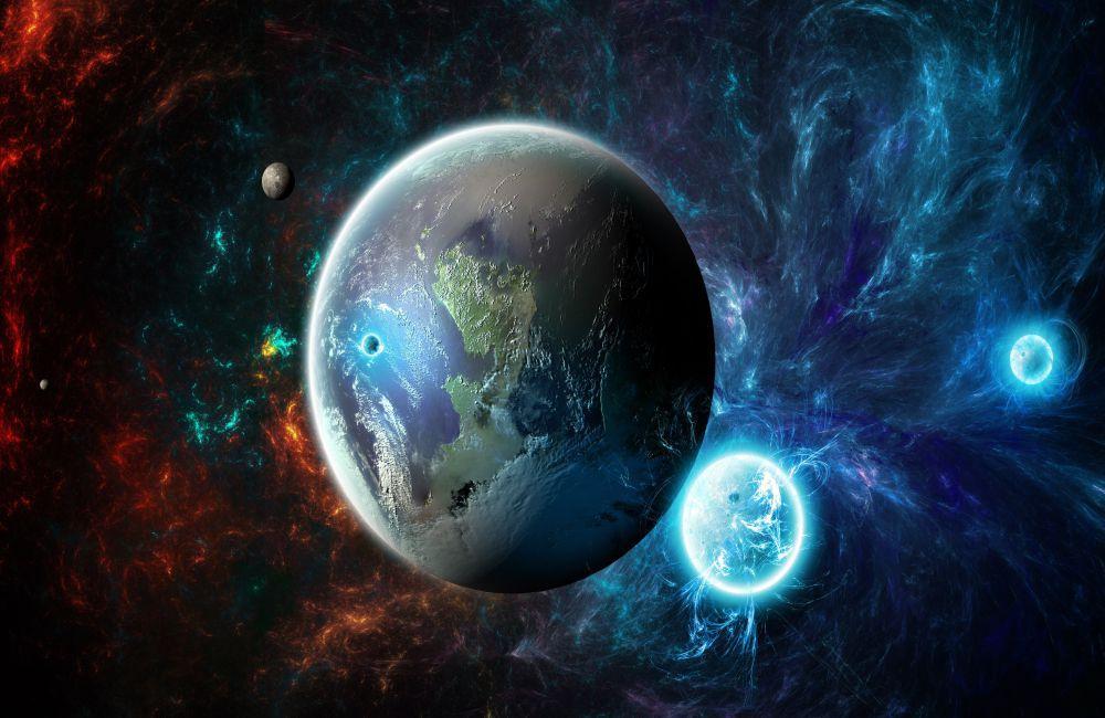 Papel De Parede 3D Universo 0009- papel de parede paisagem  - Paredes Decoradas