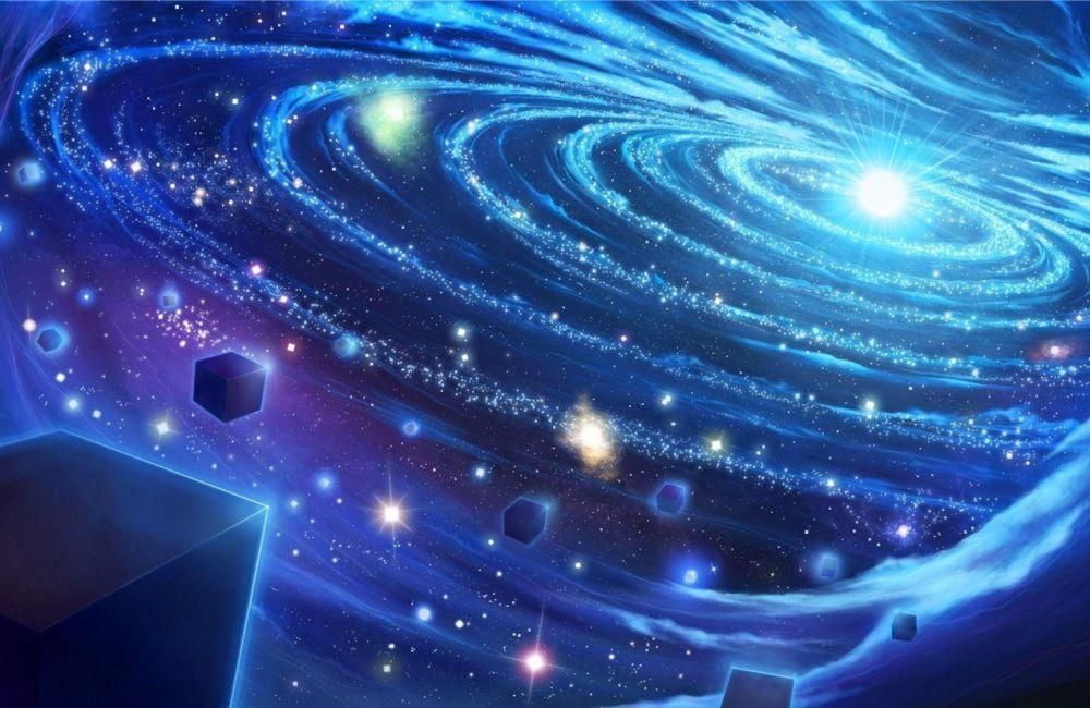 Papel De Parede 3D Universo 0010 - papel de parede paisagem  - Paredes Decoradas