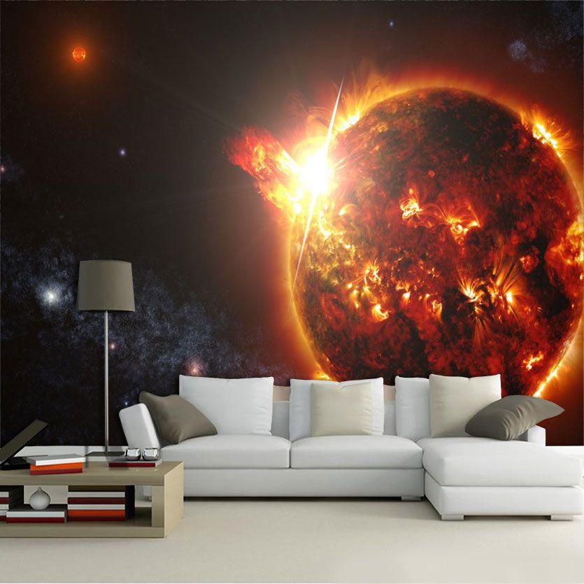 Papel De Parede 3D Universo 0011 - papel de parede paisagem  - Paredes Decoradas
