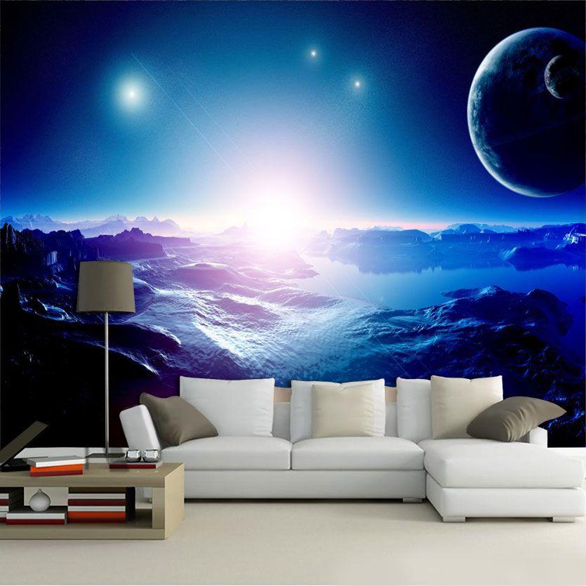 Papel De Parede 3D Universo 0014 - papel de parede paisagem