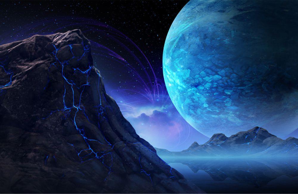 Papel De Parede 3D Universo 0016 - papel de parede paisagem  - Paredes Decoradas
