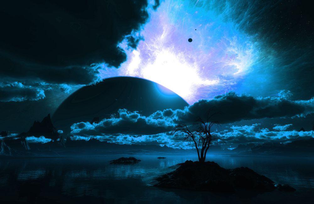 Papel De Parede 3D Universo 0018 - papel de parede paisagem  - Paredes Decoradas