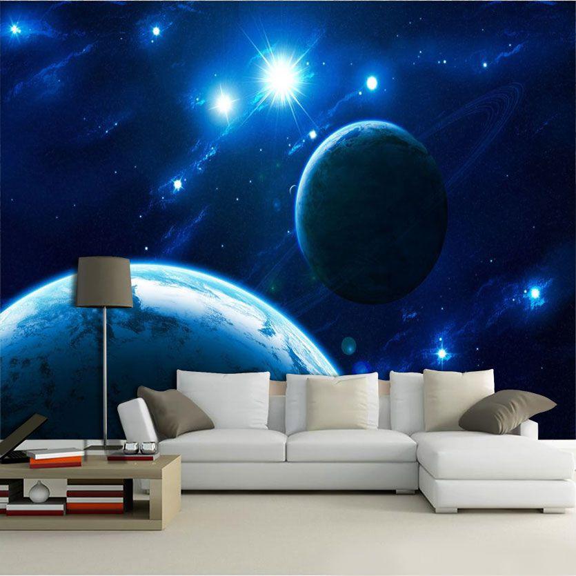Papel De Parede 3D Universo 0019 - papel de parede paisagem