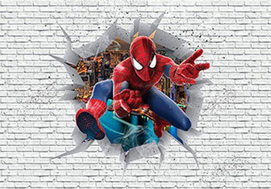 Papel de Parede 3D Vingadores Tijolos 0006  - Paredes Decoradas