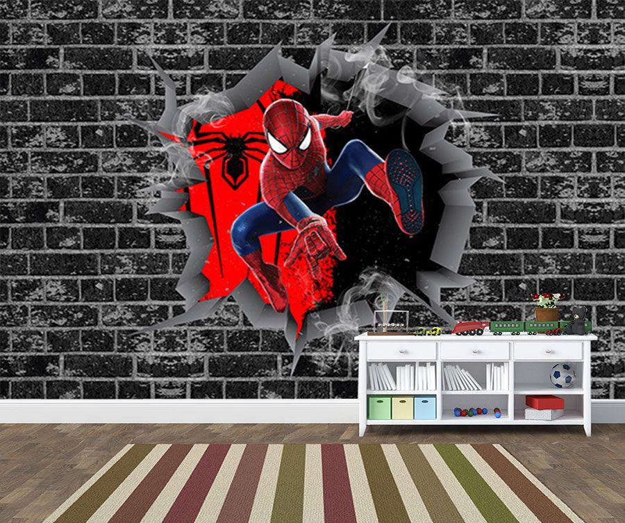 Papel de Parede 3D Vingadores Tijolos 0010