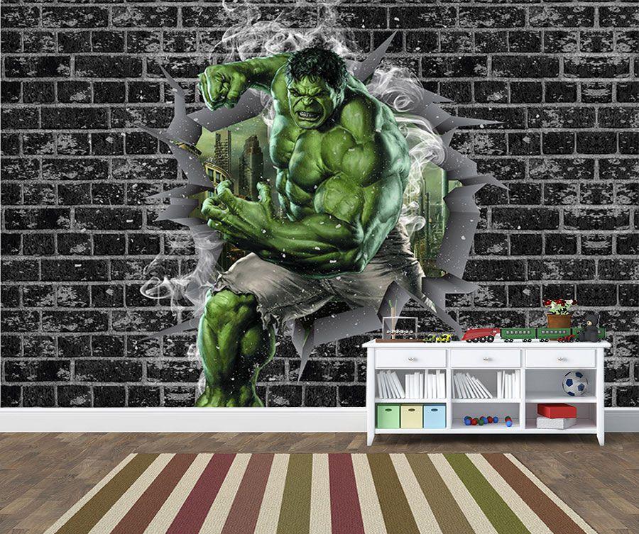 Papel de Parede 3D Vingadores Tijolos 0044
