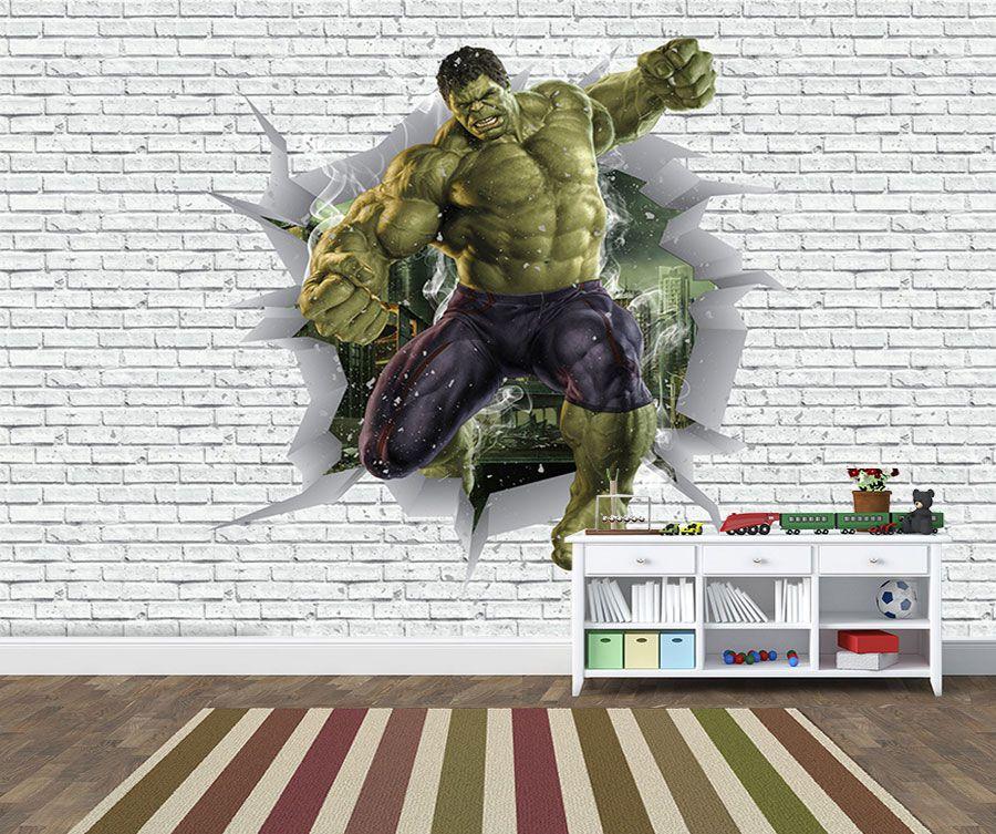 Papel de Parede 3D Vingadores Tijolos 0049