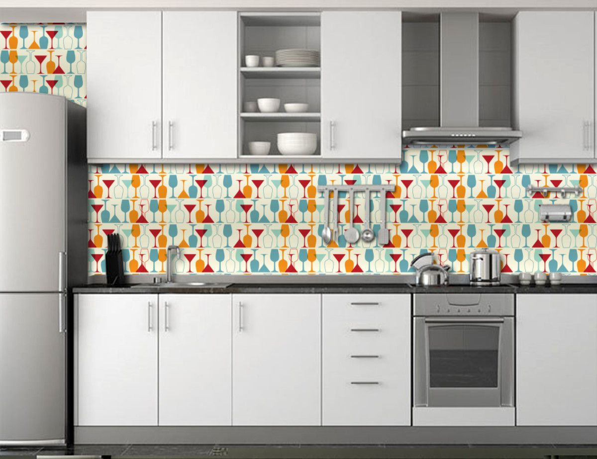 Papel de Parede Cozinha 0001 - Adesivos de Parede  - Paredes Decoradas