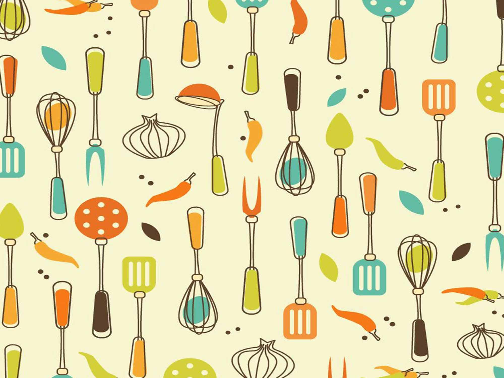 Papel de Parede Cozinha 0002 - Adesivos de Parede  - Paredes Decoradas
