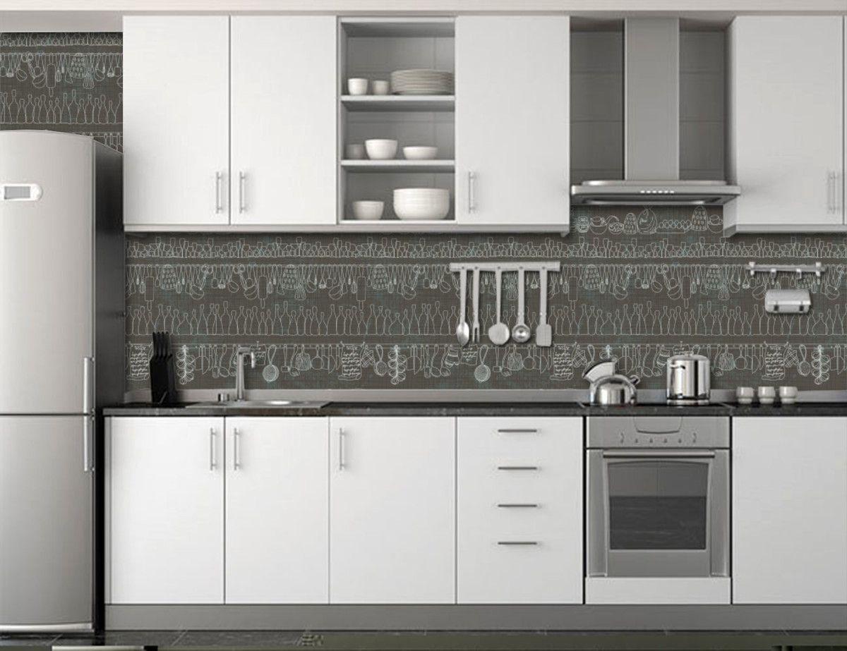 Papel de Parede Cozinha 0003 - Adesivos de Parede