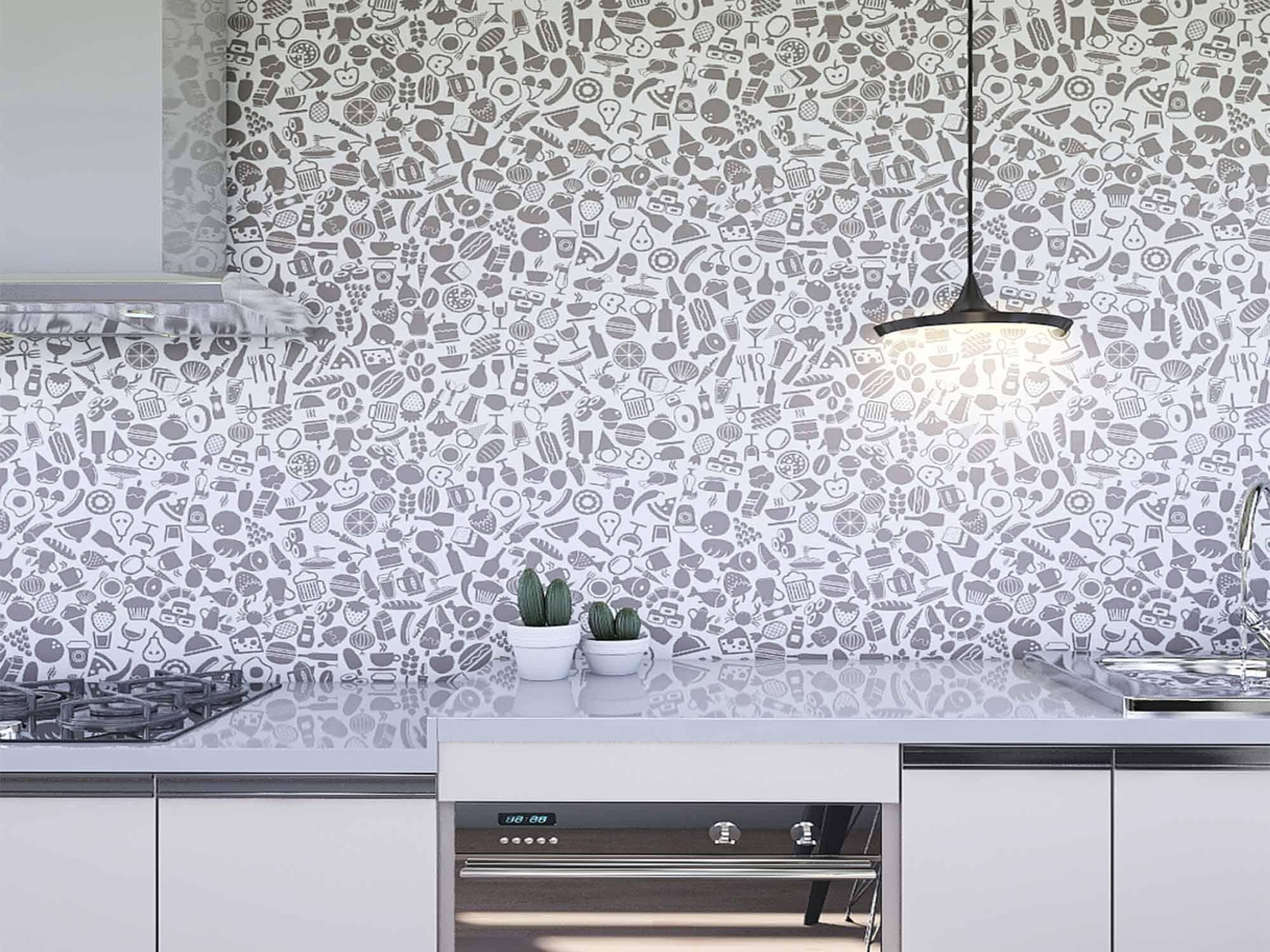 Papel de Parede Cozinha 0007 - Adesivos de Parede