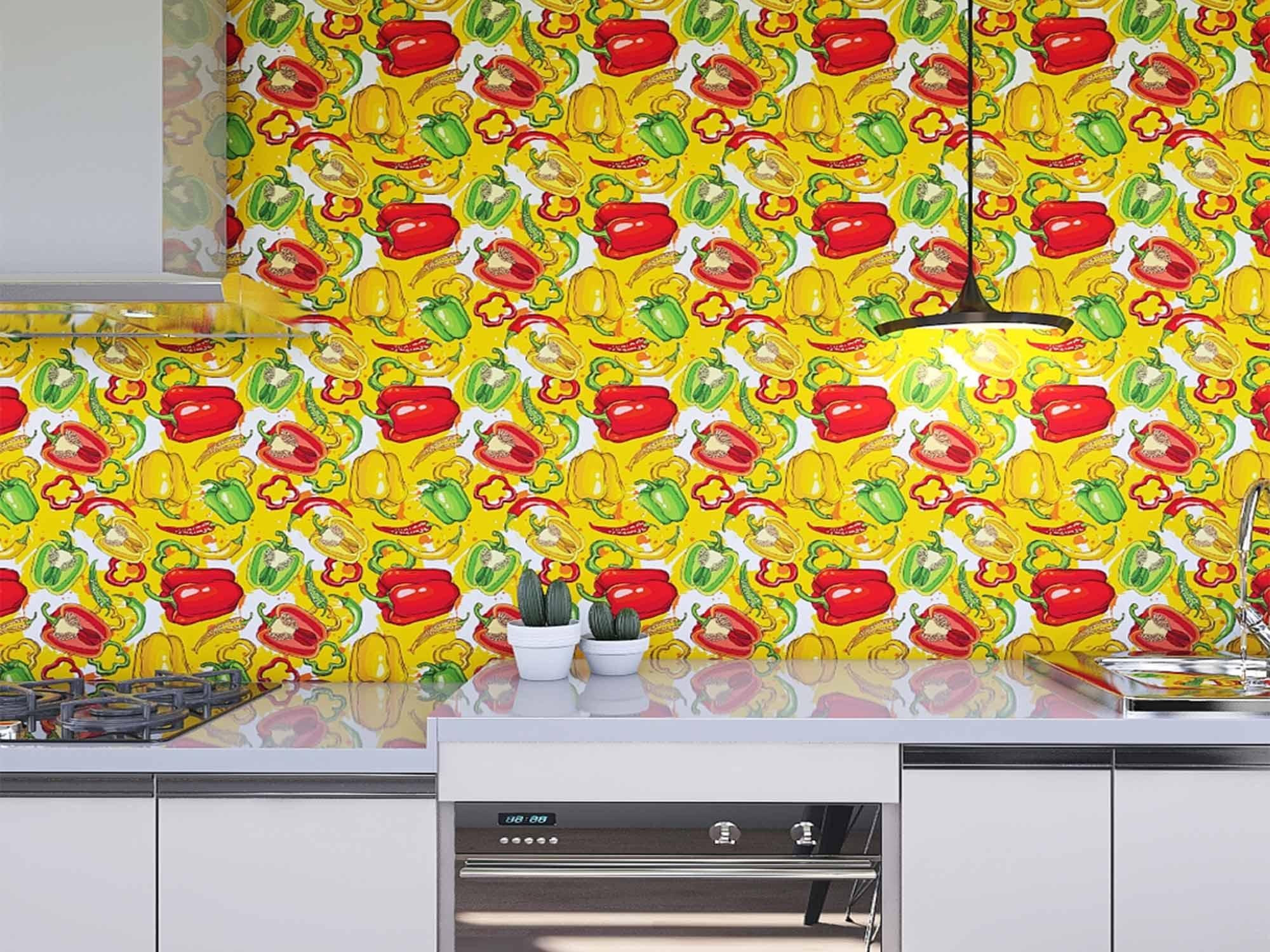 Papel de Parede Cozinha 0008 - Adesivos de Parede  - Paredes Decoradas