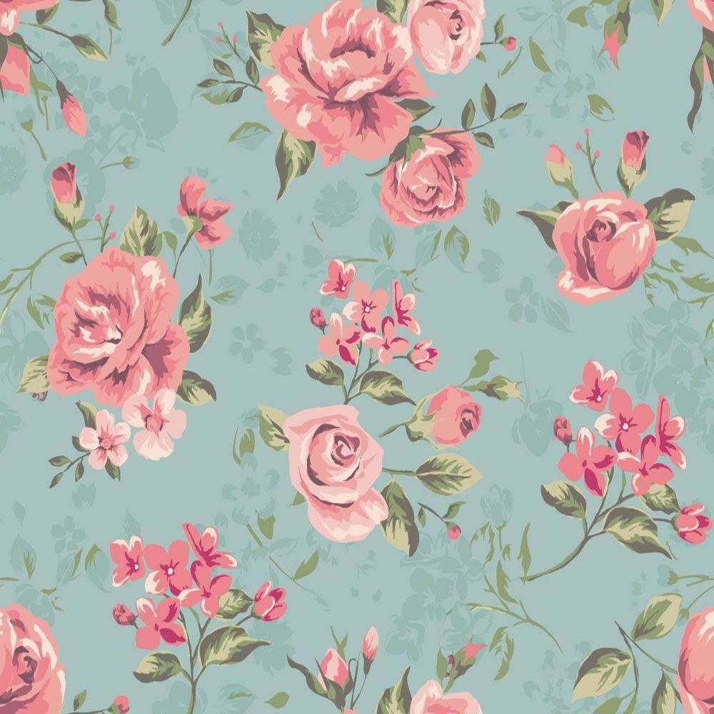 Papel de Parede Floral 0001 - (Rolo 3m x 59cm) - PROMOÇÃO