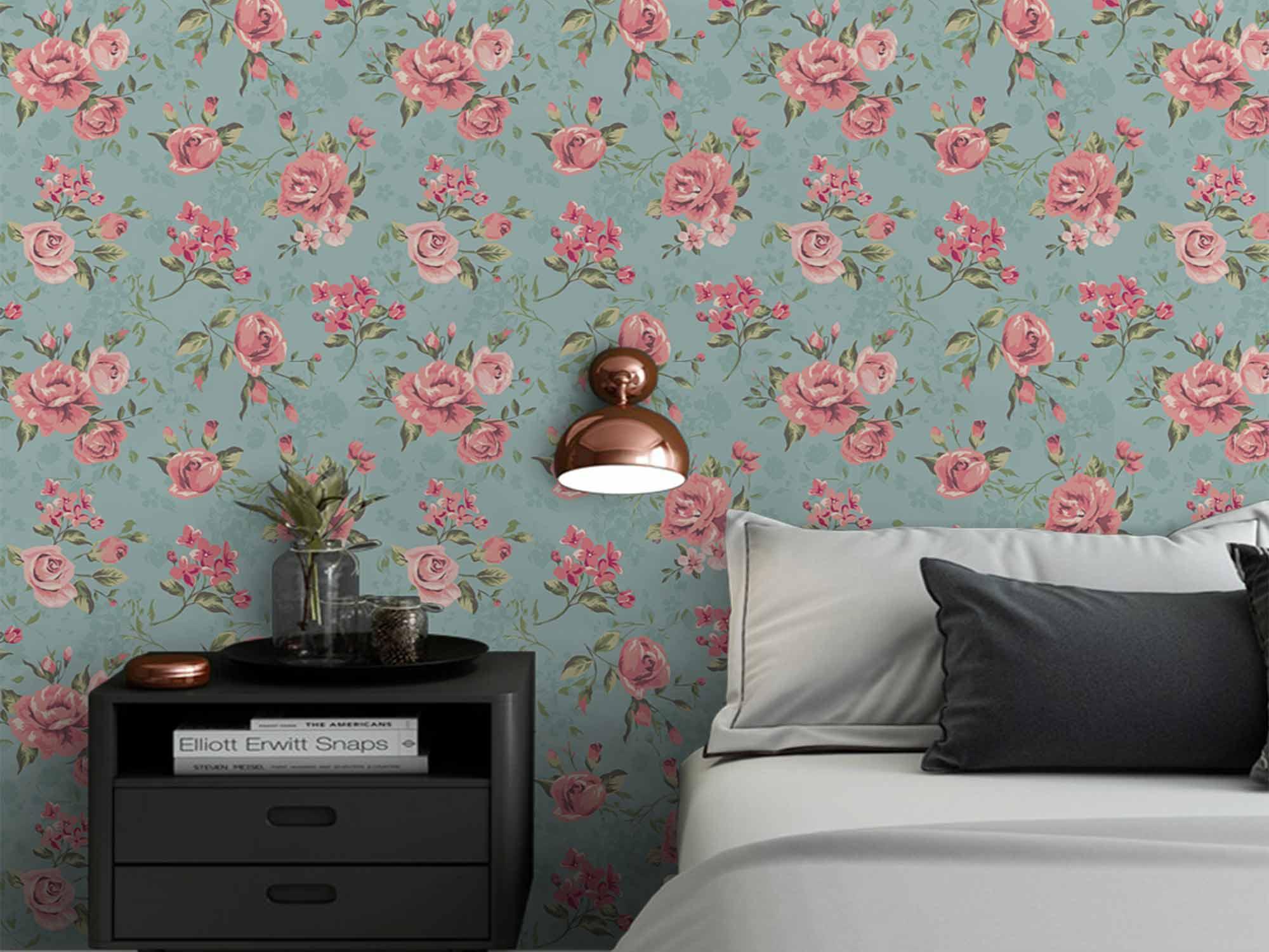 Papel de Parede Floral 0001 - PROMOÇÃO   - Paredes Decoradas