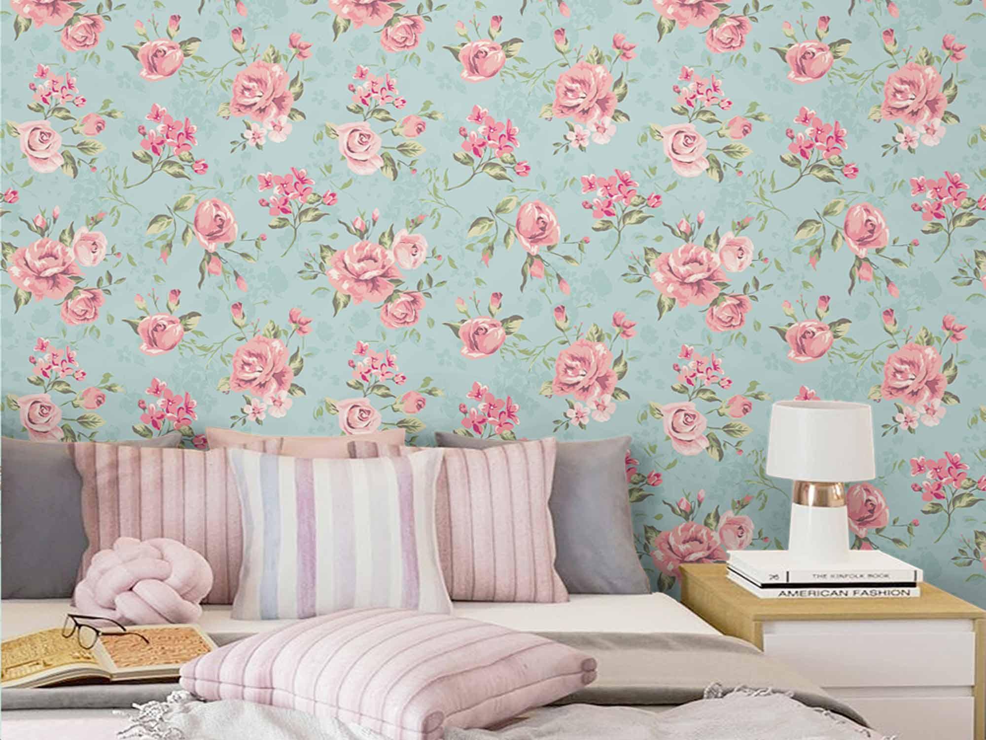 Papel de Parede Floral 0001 - PROMOÇÃO