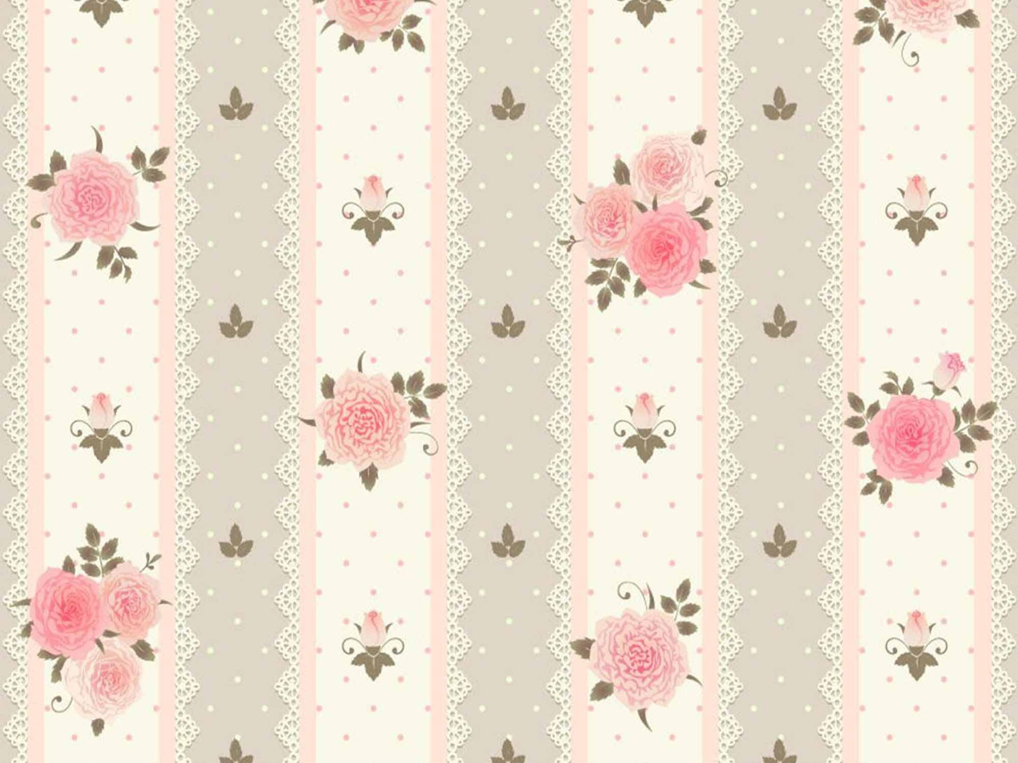 Papel de Parede Floral 0002 - Adesivos de Parede  - Paredes Decoradas