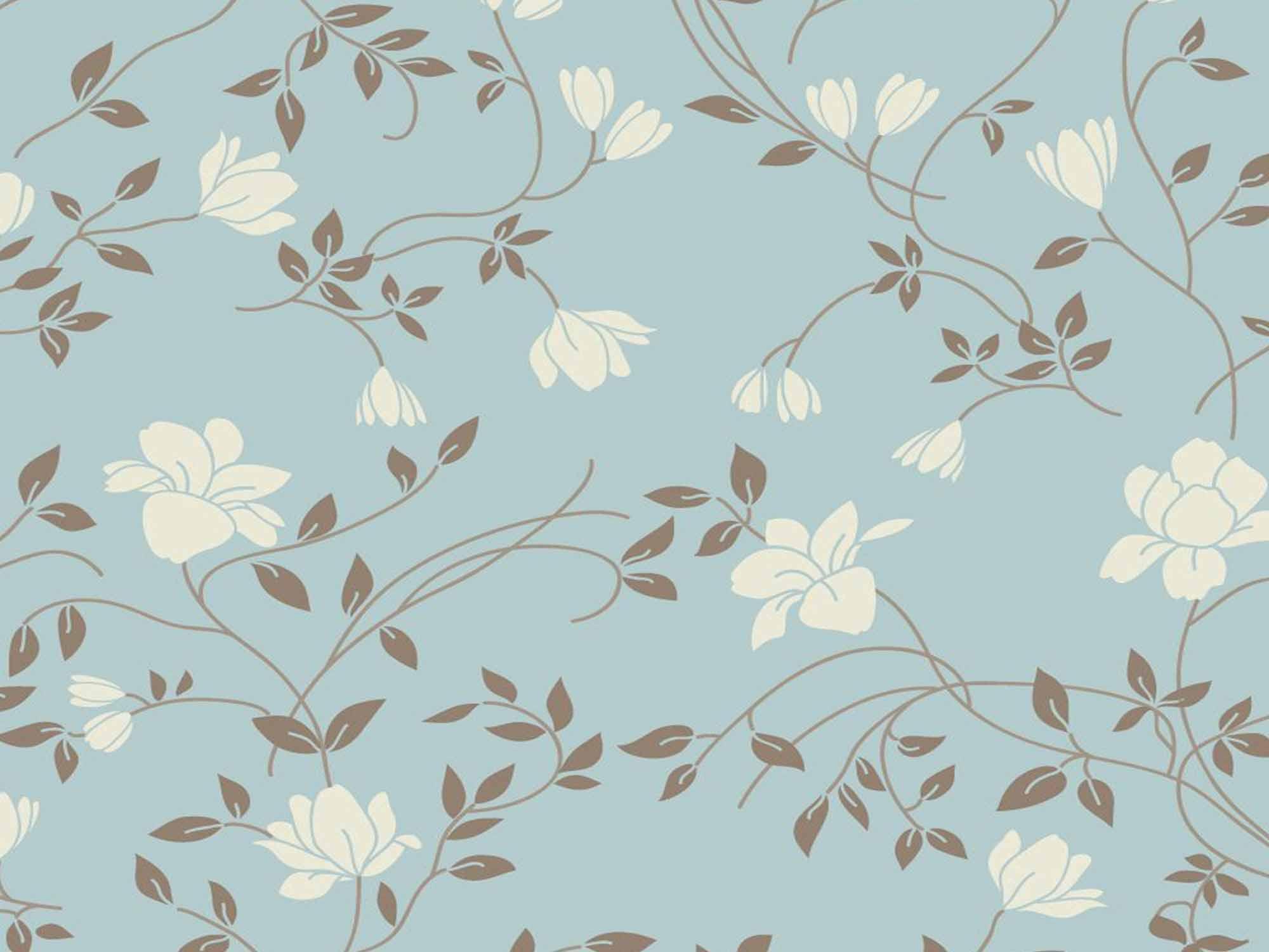 Papel de Parede Floral 0003 - Adesivos de Parede  - Paredes Decoradas