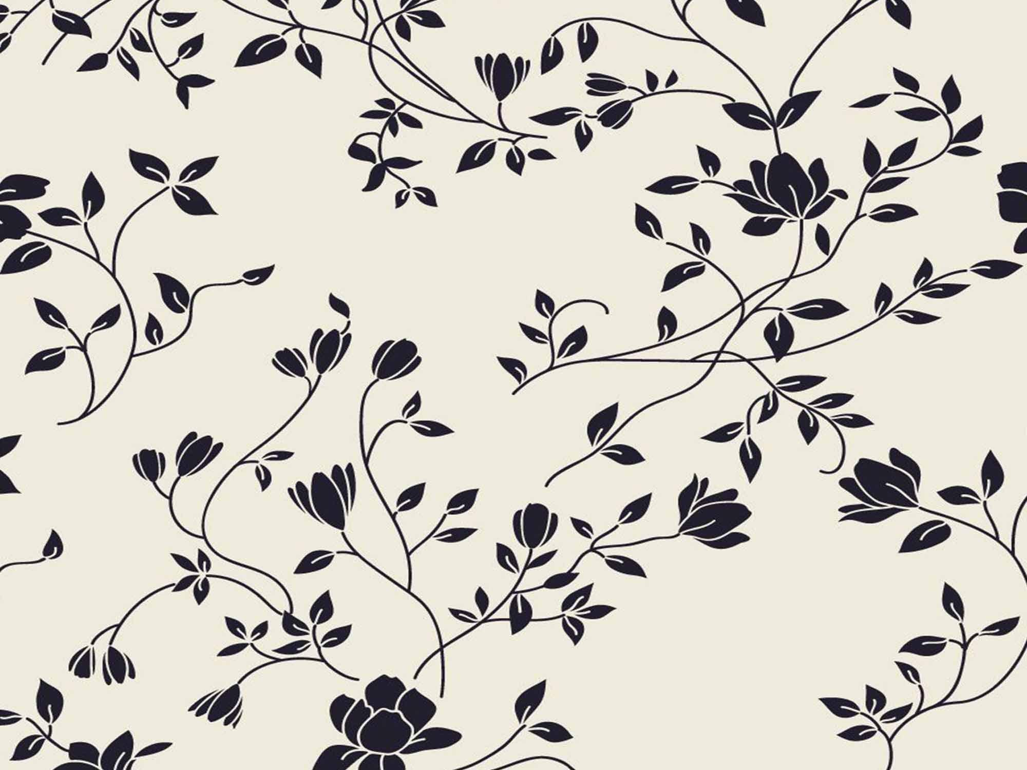 Papel de Parede Floral 0004 - Adesivos de Parede  - Paredes Decoradas