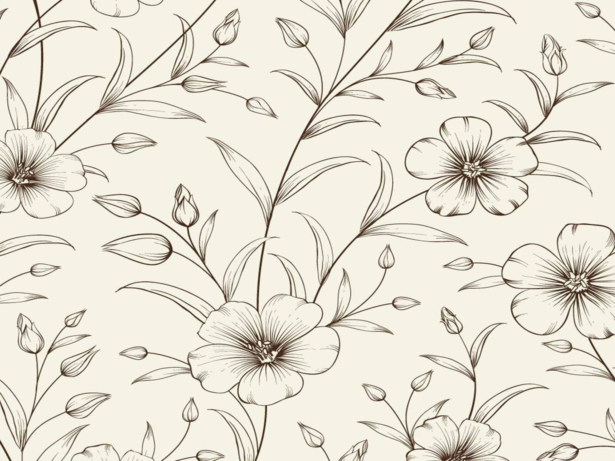Papel de Parede Floral 0006 - Adesivos de Parede  - Paredes Decoradas