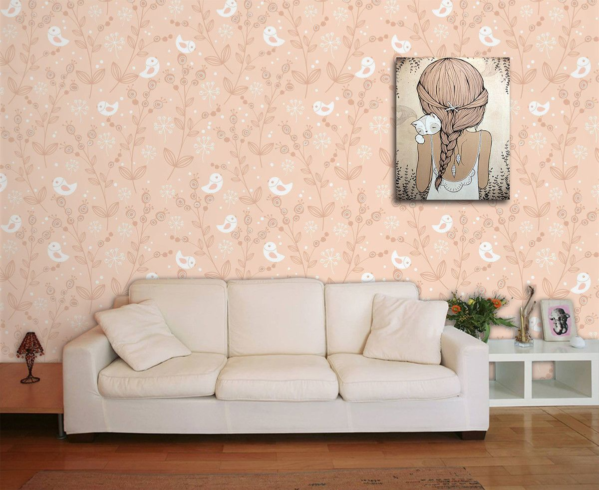 Papel de Parede Floral 0007 - Adesivos de Parede  - Paredes Decoradas