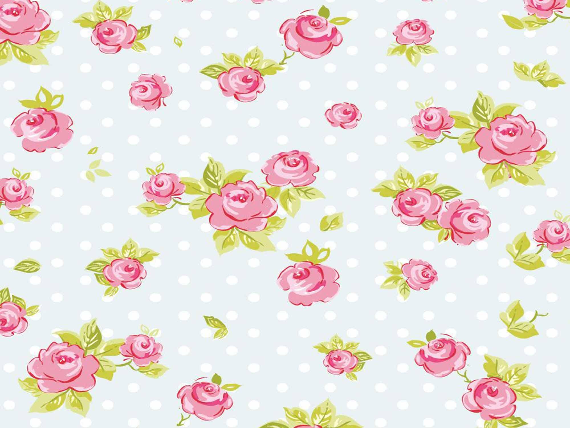 Papel de Parede Floral 0008 - Adesivos de Parede  - Paredes Decoradas
