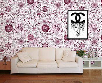 Papel de Parede Floral 0010 - Adesivos de Parede