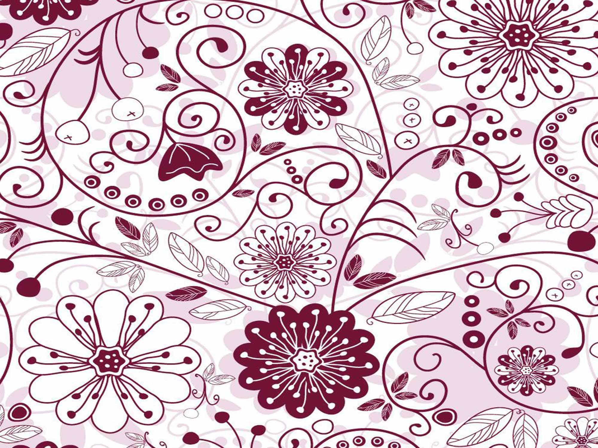 Papel de Parede Floral 0010 - Adesivos de Parede  - Paredes Decoradas