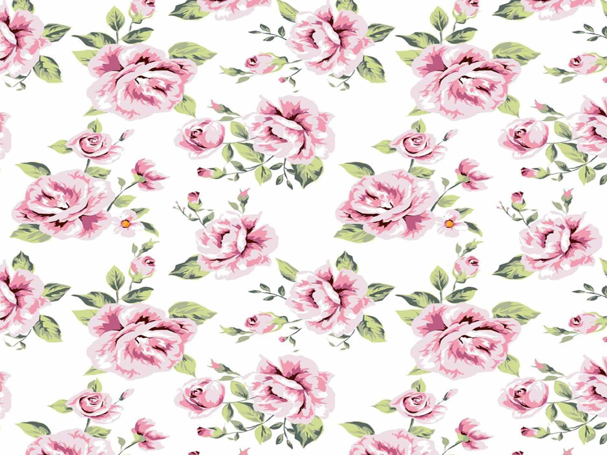 Papel de Parede Floral 0011 - Adesivos de Parede  - Paredes Decoradas