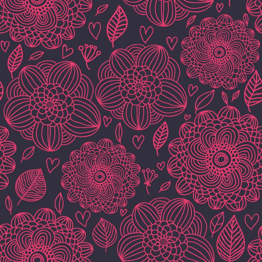 Papel de Parede Floral 0014 - Adesivos de Parede