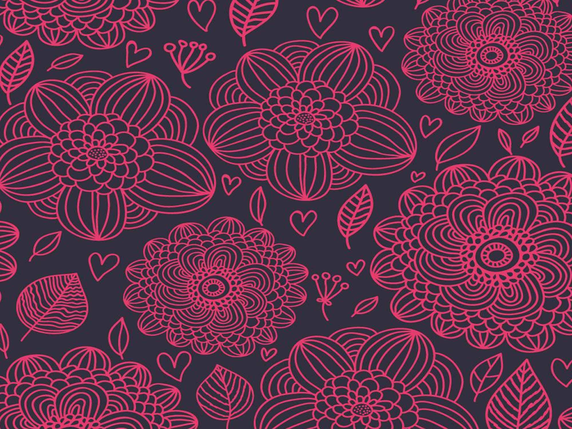 Papel de Parede Floral 0014 - Adesivos de Parede  - Paredes Decoradas
