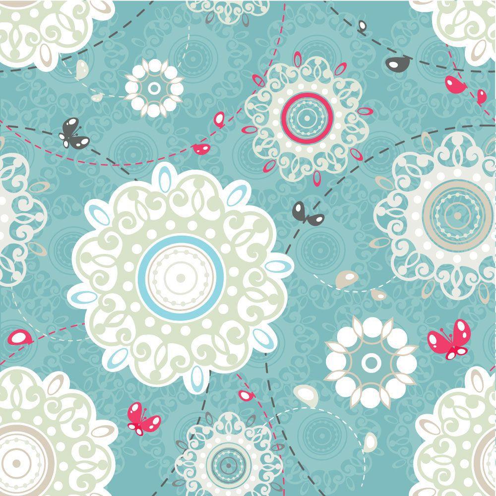 Papel de Parede Floral 0017 - Adesivos de Parede  - Paredes Decoradas