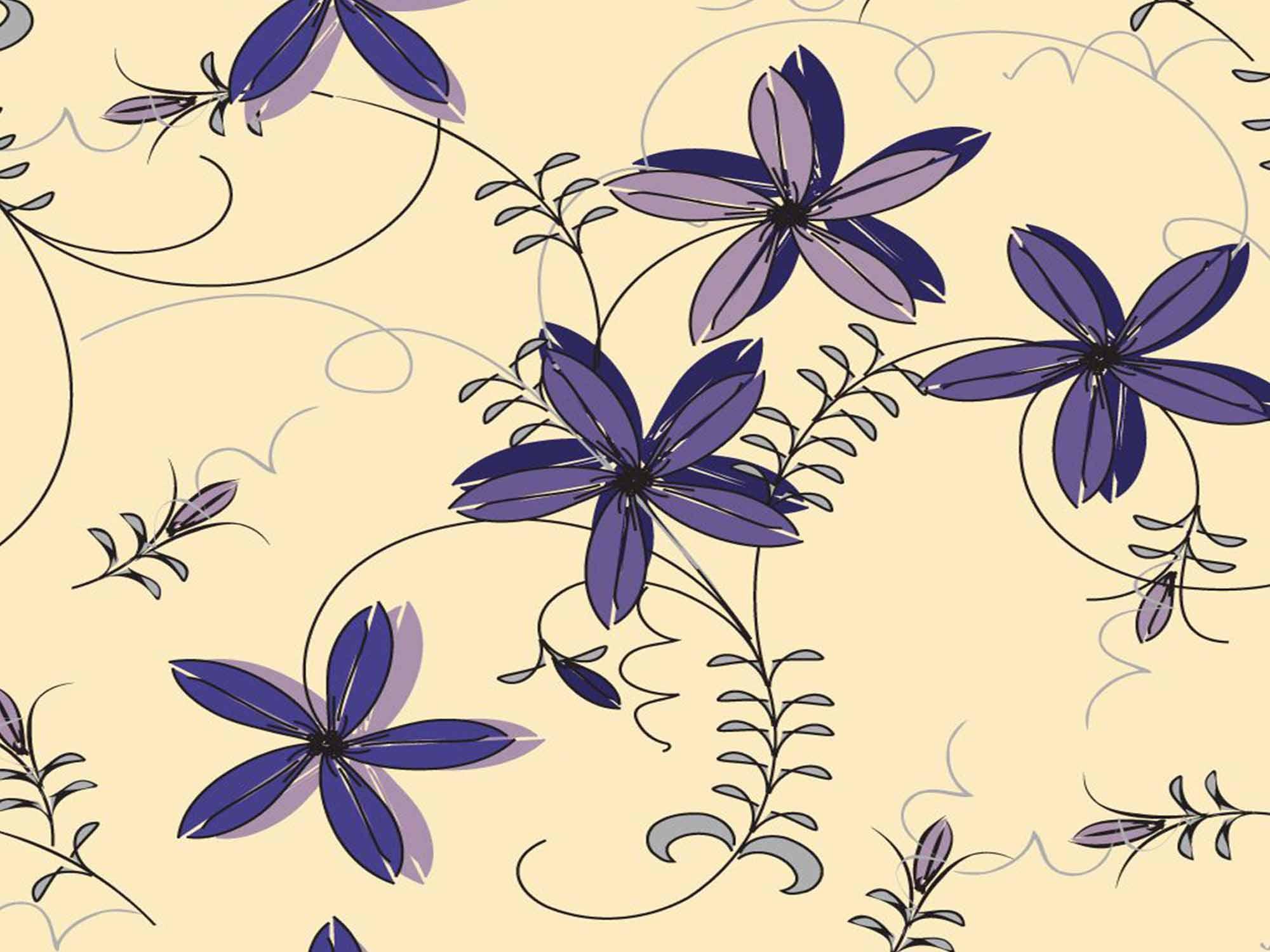 Papel de Parede Floral 0018 - Adesivos de Parede  - Paredes Decoradas