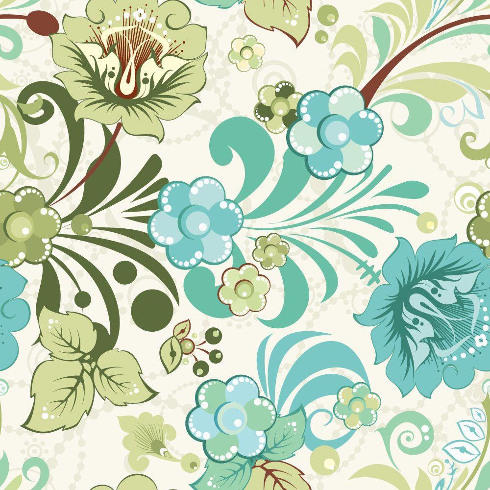 Papel de Parede Floral 0020 - Adesivos de Parede