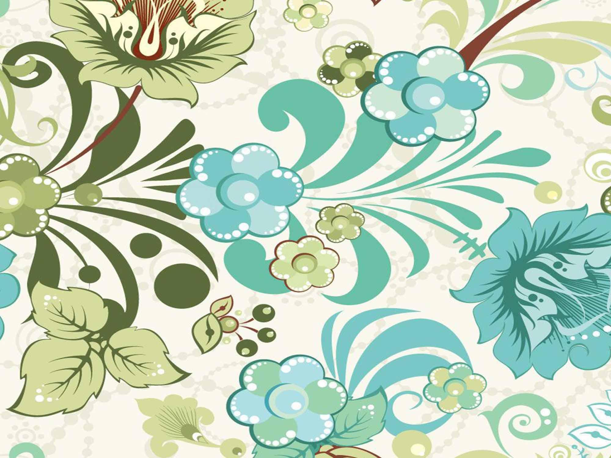 Papel de Parede Floral 0020 - Adesivos de Parede  - Paredes Decoradas