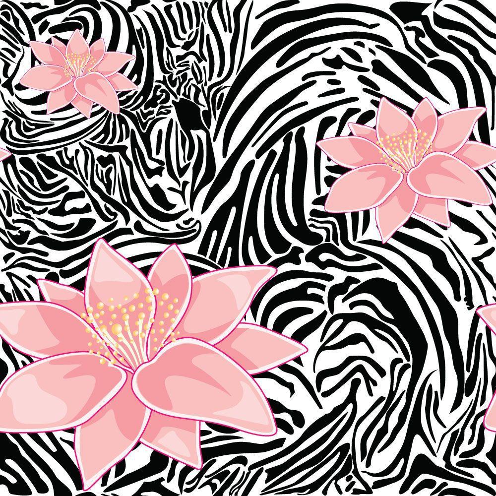 Papel de Parede Floral 0021 - Adesivos de Parede  - Paredes Decoradas