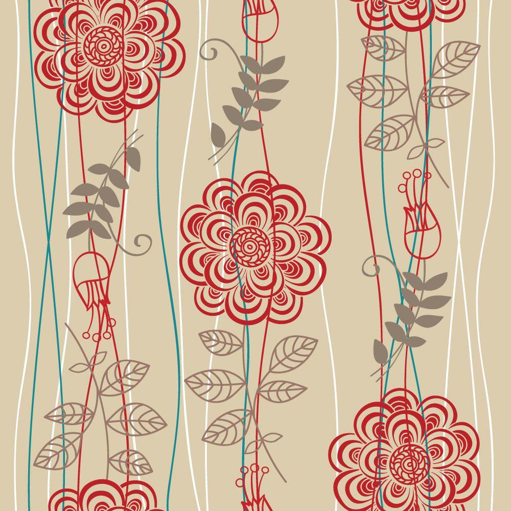 Papel de Parede Floral 0023 - Adesivos de Parede  - Paredes Decoradas