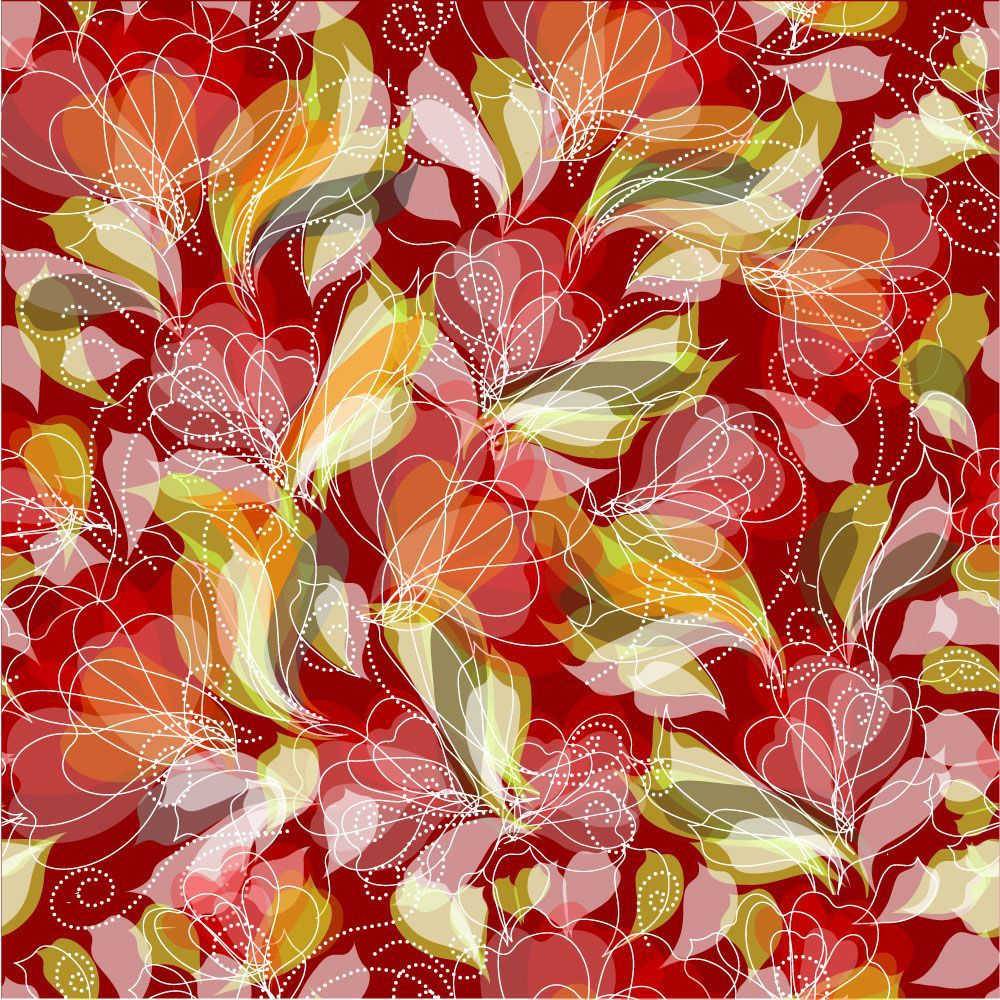 Papel de Parede Floral 0024 - Adesivos de Parede  - Paredes Decoradas