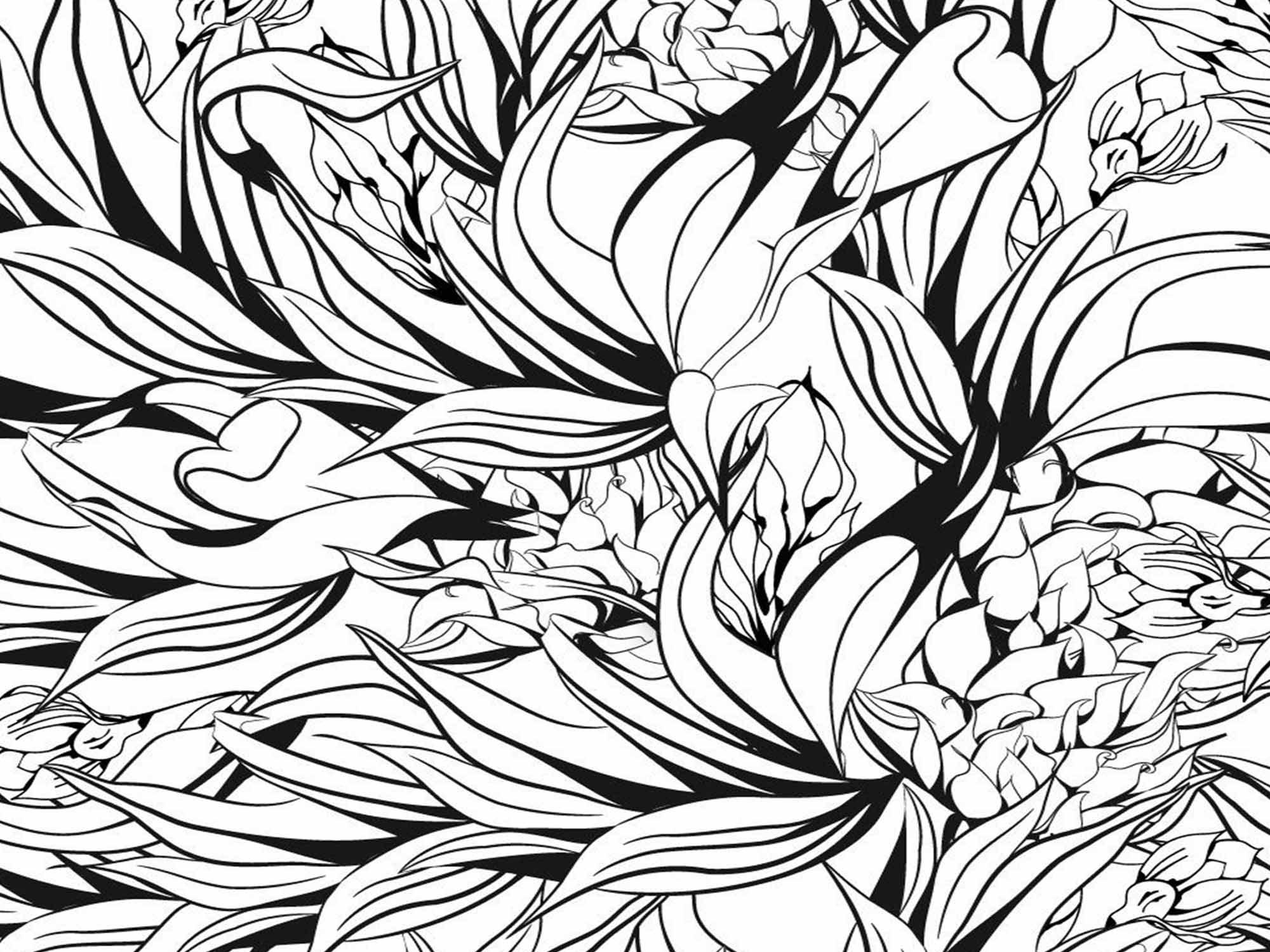Papel de Parede Floral 0028 - Adesivos de Parede  - Paredes Decoradas