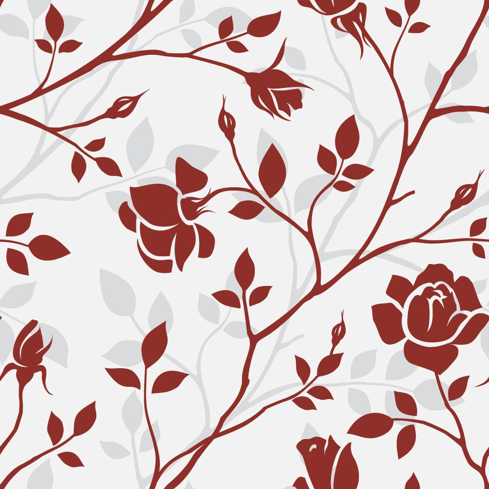 Papel de Parede Floral 0029 - Adesivos de Parede  - Paredes Decoradas