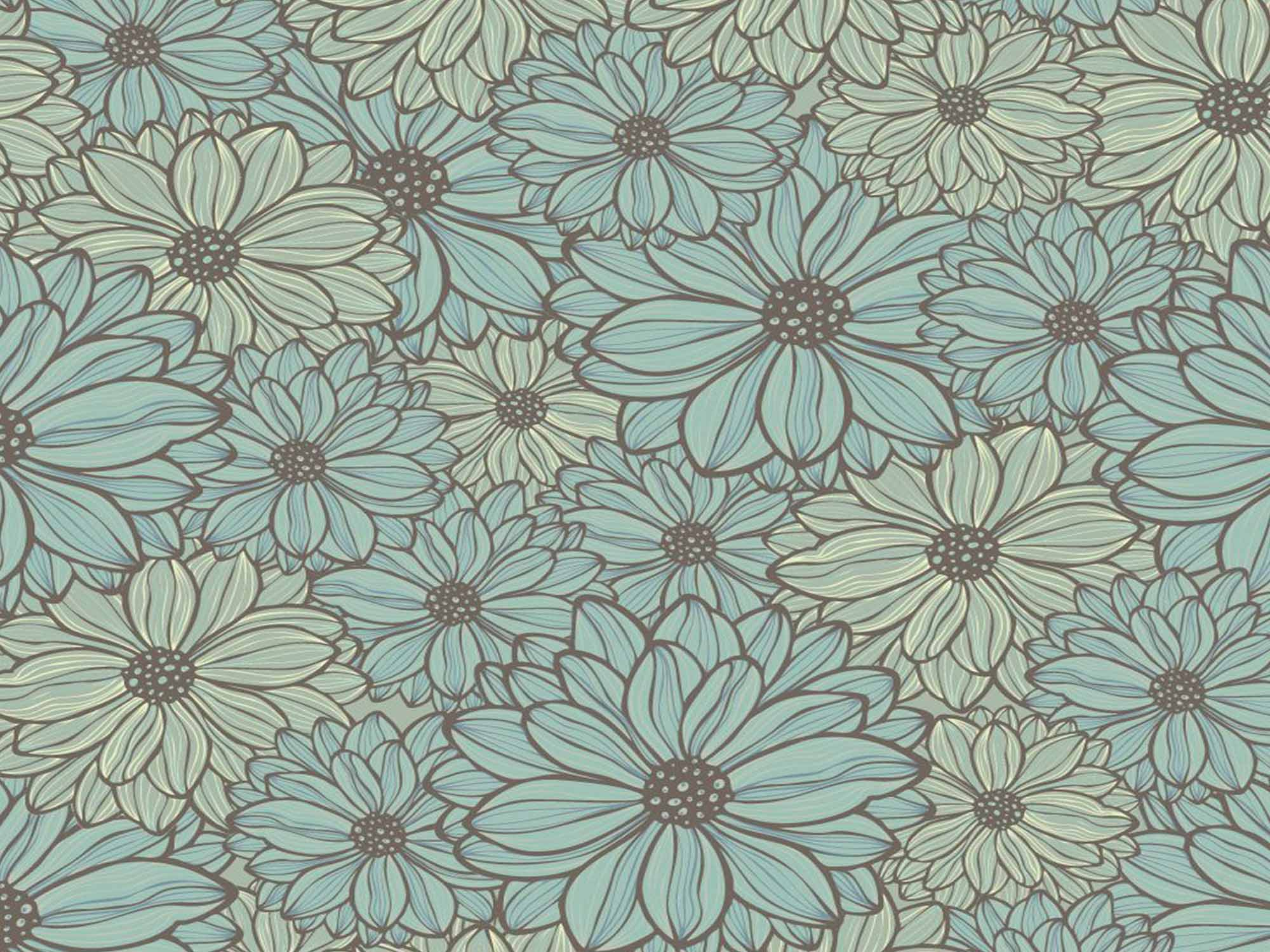 Papel de Parede Floral 0030 - Adesivos de Parede  - Paredes Decoradas