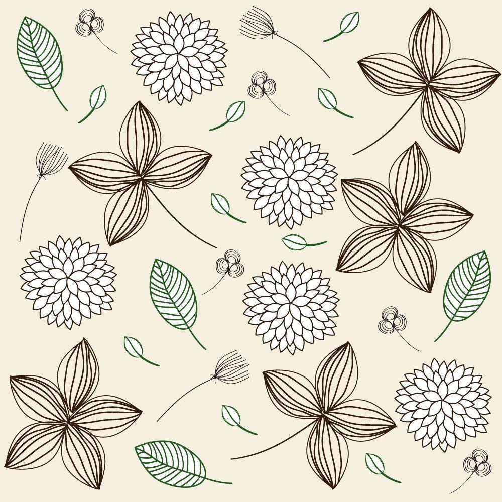 Papel de Parede Floral 0032 - Adesivos de Parede  - Paredes Decoradas