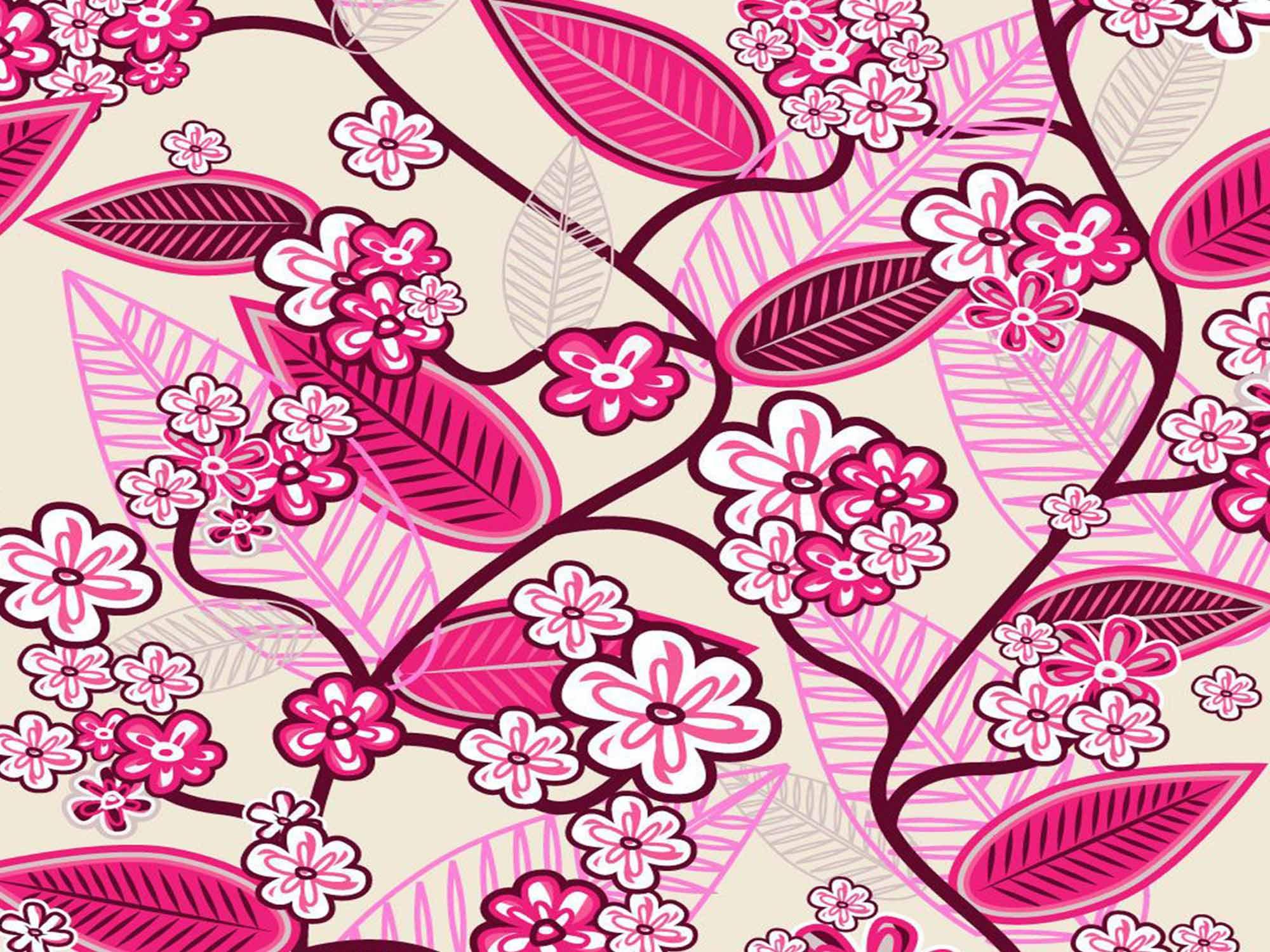 Papel de Parede Floral 0034 - Adesivos de Parede  - Paredes Decoradas