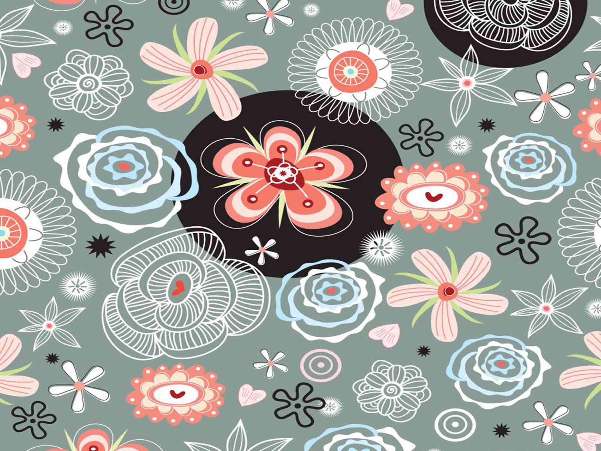 Papel de Parede Floral 0035 - Adesivos de Parede  - Paredes Decoradas
