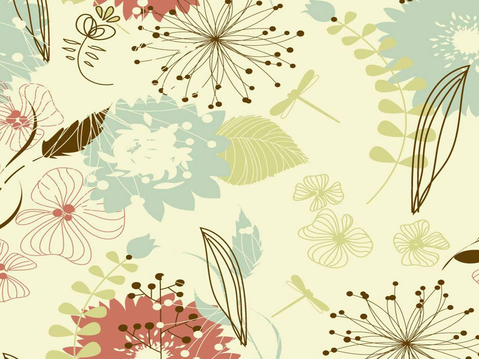 Papel de Parede Floral 0036 - Adesivos de Parede  - Paredes Decoradas