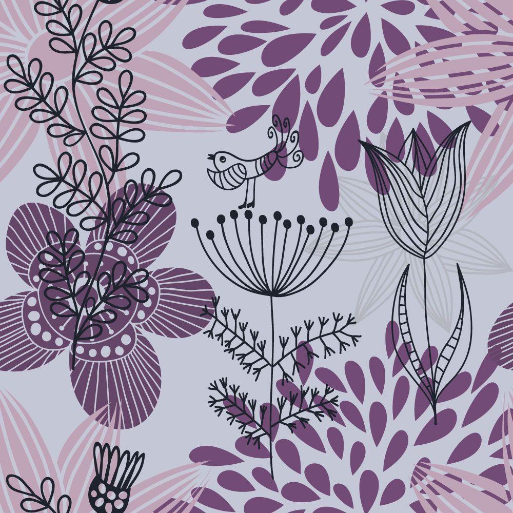 Papel de Parede Floral 0037 - Adesivos de Parede  - Paredes Decoradas