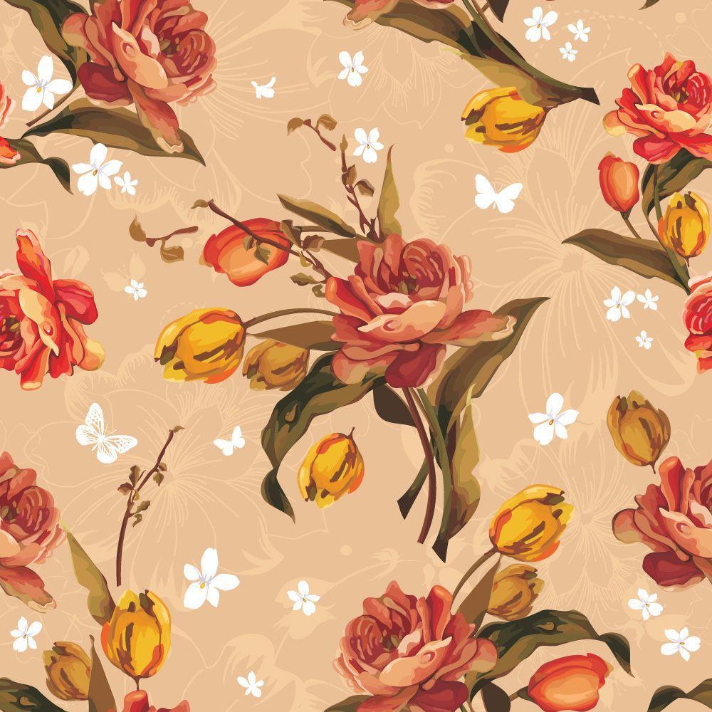 Papel de Parede Floral 0039 - Adesivos de Parede