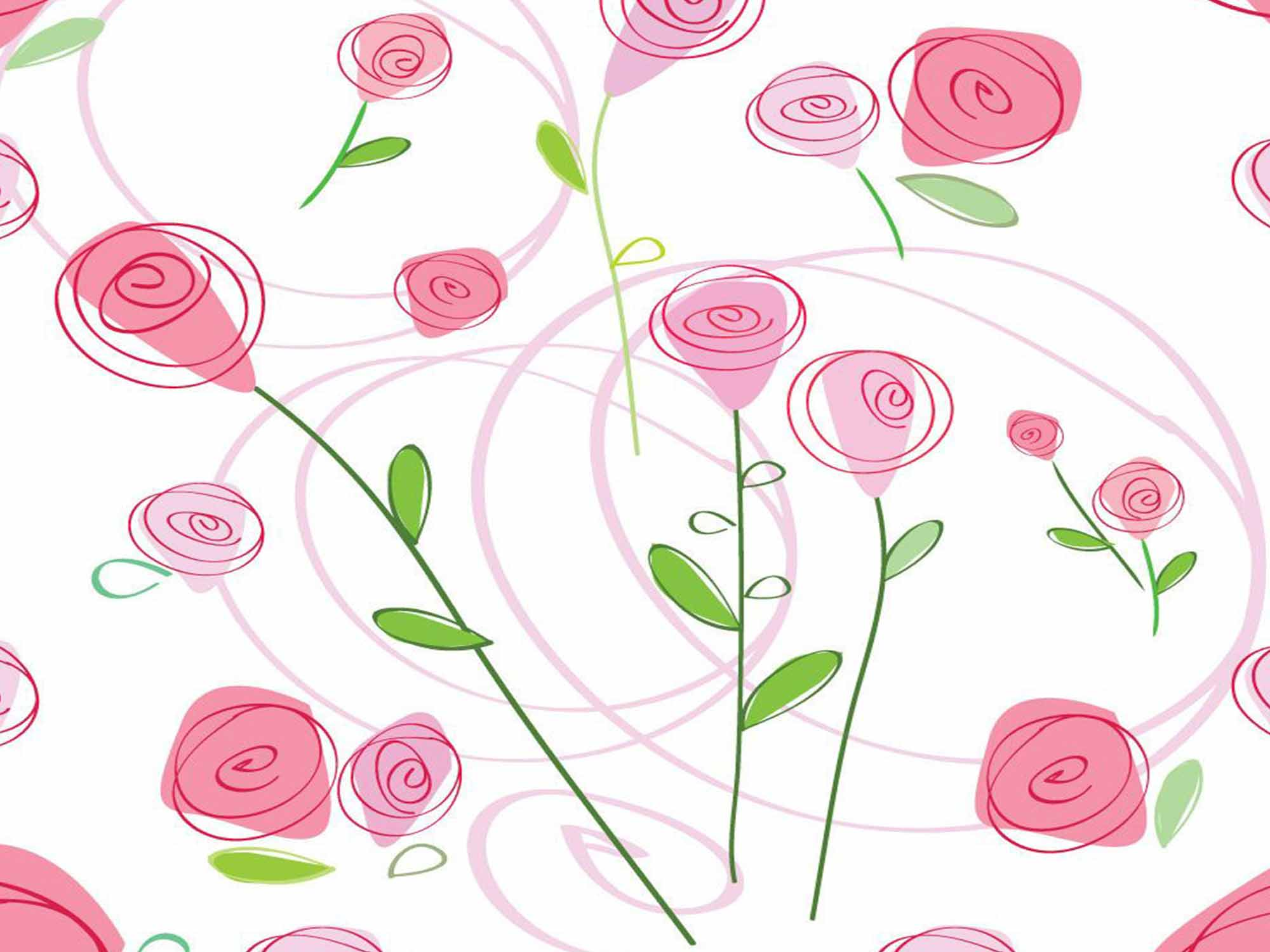 Papel de Parede Floral 0042 - Adesivos de Parede  - Paredes Decoradas